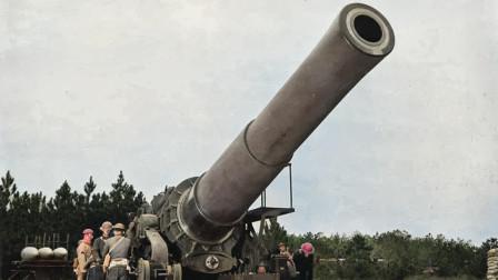 914毫米口径世界第一,二战最猛巨炮到底有多牛?10层楼一炮轰塌