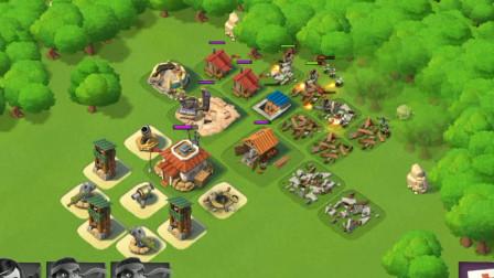 胖虎游戏:海岛奇兵挑战比自己高4级的对手,差一点就偷袭成功!