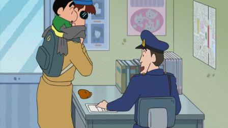 蜡笔小新新番:小新在路上偶遇动感超人,帮助他去活动会场哦!