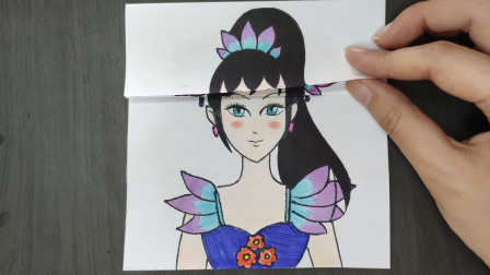 用一张纸给动画片叶罗丽陈思思换3次发型比颜值,最好看的是哪次