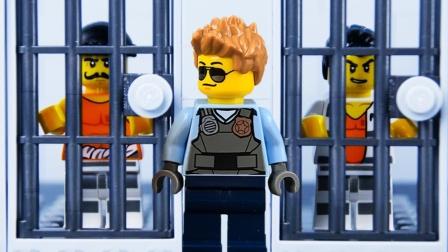 乐高城市越狱停止运动商店抢劫案第2部分#乐高城市捉骗子#乐高世界.