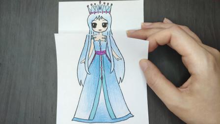 如果颜爵用魔法给冰公主换一身百合花裙子?会更美吗?精灵叶罗丽