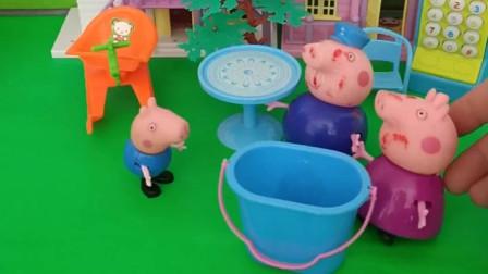 乔治在家里唱歌,猪爷爷误会乔治了,猪爷爷太可爱了