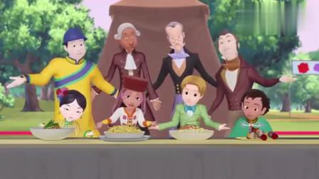 小公主苏菲亚:苏菲亚参加三国宴会,众人载歌载舞,罗伦国王的话肯定了这次宴会