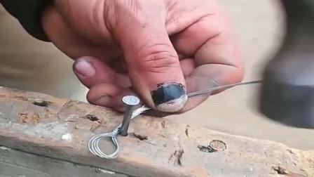 牛人创意:什么叫老师傅?简简单单砸个钉子,都不是二把刀能比的!