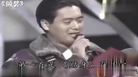 张国荣魅力有多大,去韩国造成万人空巷,现场献歌天王秒变迷弟