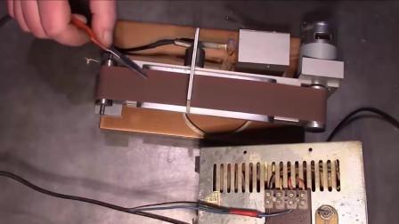高手自制电动研磨机,处理毛刺太方便了,又省了好几百