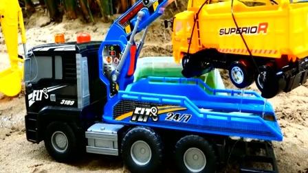 拖车模拟救援故障车 创意玩具