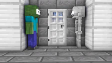 一个用力过猛,菜鸟把监狱门踢开准备越狱,怎料被狱警当场抓包?