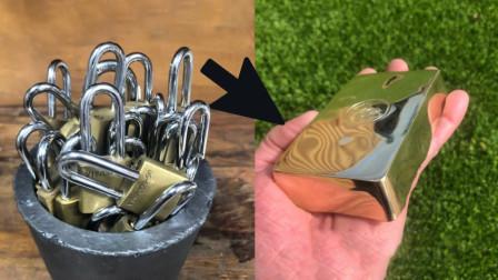 牛人买来20把金属锁,做了一块金砖,结果土豪出2000买走!