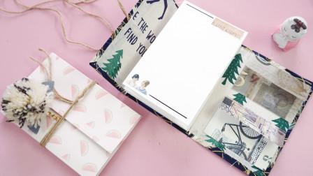 几张卡纸自制超简单的手账本,手残党也能学会!