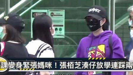 香港:复课变紧张妈咪!直击张柏芝连踩两场接儿子放学