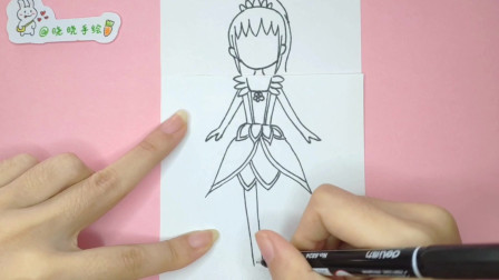一分钟教你画叶罗丽仙子陈思思手绘简笔画,简单好学的可爱少女