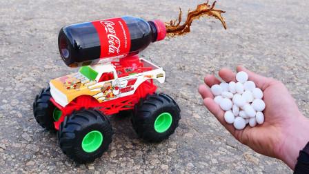 小伙拿一辆玩具车,用可乐做发动机,看完刷新你的认知!