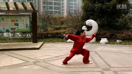 杨氏太极拳第五代传人,太极拳大师刘玉兰演示27式太极拳