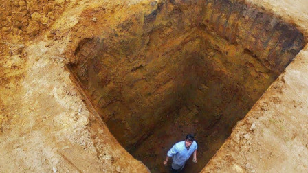 不小心掉进5米深坑,空手也能自救吗?老外亲测,太厉害了!