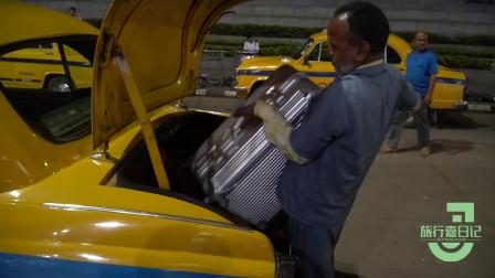 印度人是太节约还是胆子太大?出租车都没有后视镜!深夜到达印度,太不容易
