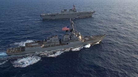 美军环太军演成笑话,此国仅派出两艘军舰
