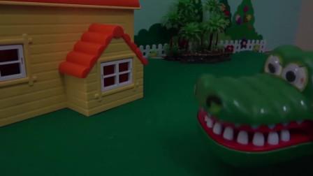 鳄鱼和红眼睛的处女鬼进入的那一刻! 让我们帮助Pororo玩具朋友吧!