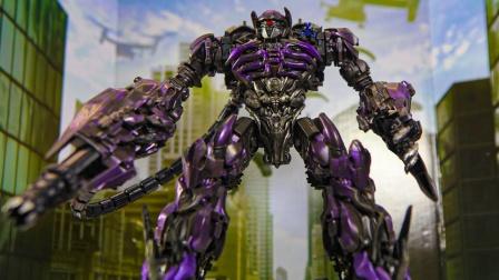 变形金刚电影3工作室系列-56领导者级别冲击波定格动画机器人玩具.