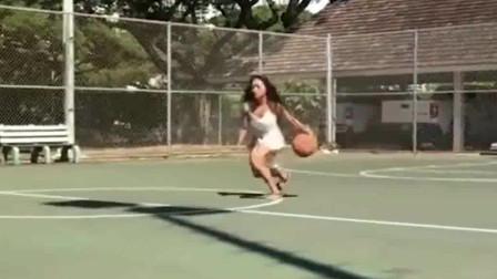 篮球高手的境界:穿着裙子凉鞋照样暴强控球!美国篮球女训练师厉害了!