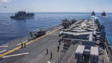 美军直接发大招,7艘航母即将起航