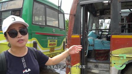 印度真的很落后?实拍印度公交车,中国女孩:这些不是报废车?