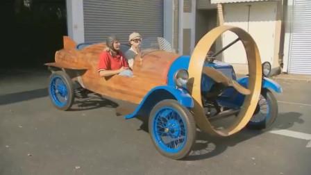 大爷在汽车上装了个螺旋桨,这车真能飞?