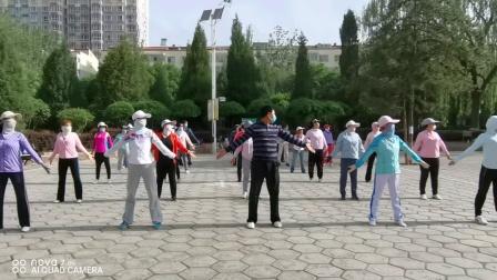 岭上公园剑舞瑛姿团队疫情期间学练健身气功八段锦(2020.6)