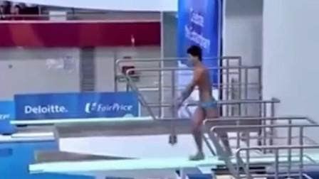 菲律宾灵魂跳水运动员,这个表情绝了!