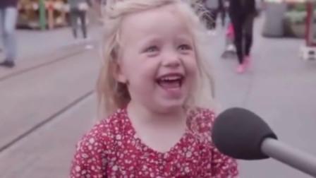 美国街头,萌娃模仿特朗普!真的太像了