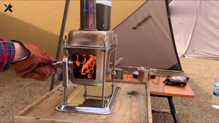 师傅设计制作这款火炉真漂亮,取暖,烧饭,煎烤全能,好羡慕