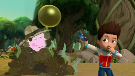 小猪佩奇猪奶奶掉到脏臭的堆肥里,莱德队长来救援 汪汪队立大功简笔画
