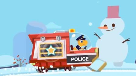 恐龙警车第四辆 小恐龙驾驶警车巡逻出警 休闲益智游戏