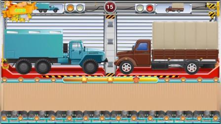 运输工程车拼图组装 认识工程车大货车 休闲益智游戏