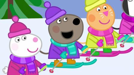 一年一度的滑雪比赛谁能得第一名呢?小猪佩奇游戏