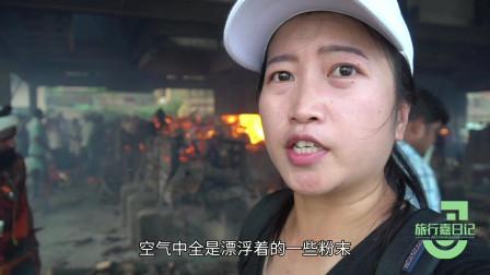 鼓起勇气进入印度烧尸庙!印度女人见不到的场景,中国姑娘看到了