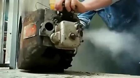 单缸柴油机珍贵录像,这声音太刺耳了,怪不得很难驯服!