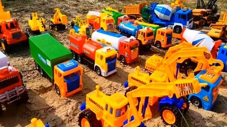 汽车玩具视频 亲子早教益智认知各种汽车工程车模拟工作.mp4