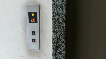 左岸阳光C2幢观光电梯下行(30/F-1/F)
