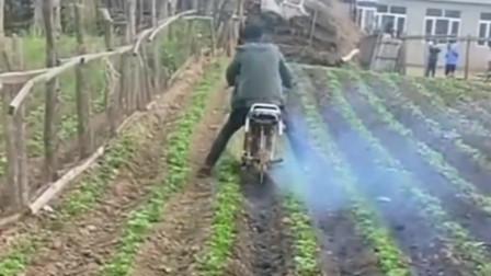 有了这样的神器,地里的农活干起来就方便多了,还有这样的操作!