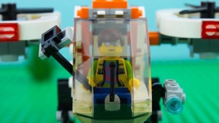乐高无人机速度构建停止运动乐高城市无人机砖建筑#乐高城市#通过