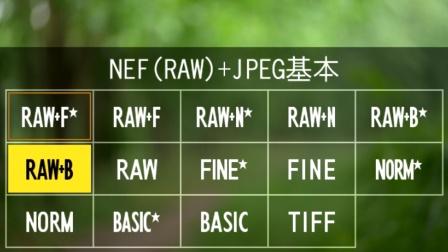 尼康Z6Z7微单操作教程10:图像品质与图像大小(RAW、JPEG、TIFF)
