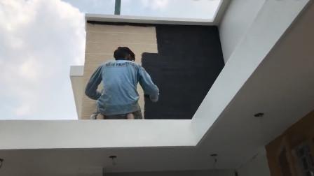 印度泥瓦匠如何粉刷墙?仅靠腻子就能实现,这工艺真牛呀!