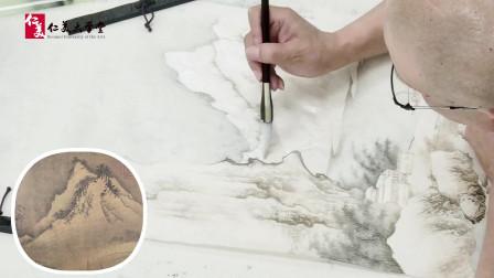 宋画中如何写出雪景 北宗山水绘画技法教学 珍贵教程赶快学习