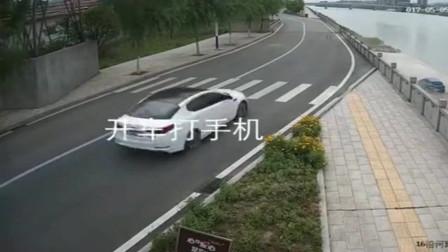 新手司机,一边开车一边打手机,教训很深刻!