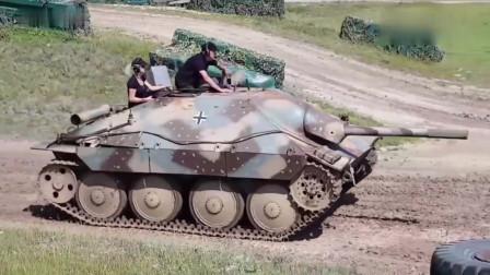 """""""追猎者""""坦克歼击车下场跑圈,看着相当小巧,整天嗖嗖的"""