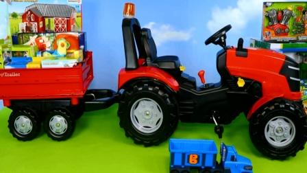 农场的拖拉机模拟工作 拖拉机玩具大集合