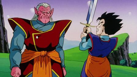 七龙珠:界王神要给悟饭做示范,无奈力气太小,只能口头说说