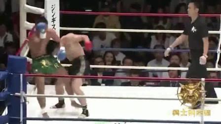 邱建良对决日本空手道高手,连续重击暴打对手